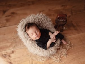 Nelly rops Sleeping Newborn Session Boy