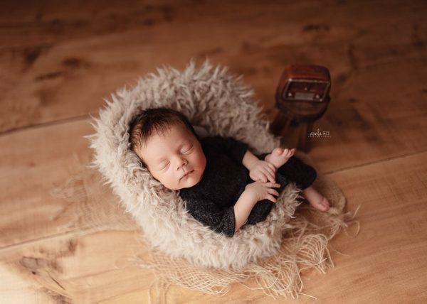Nelly rops Sleeping Newborn Session Boy